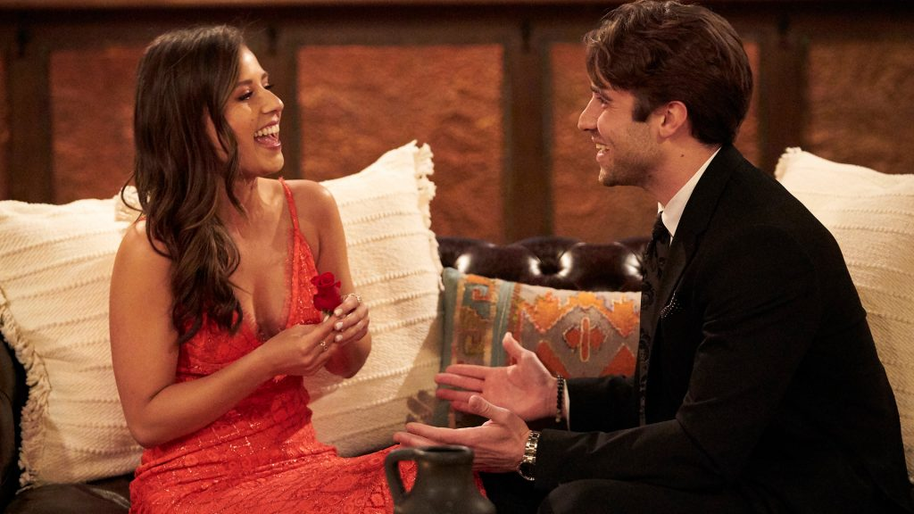Katie Thurston and Greg Grippo together on night one of 'The Bachelorette' Season 17 in 2021