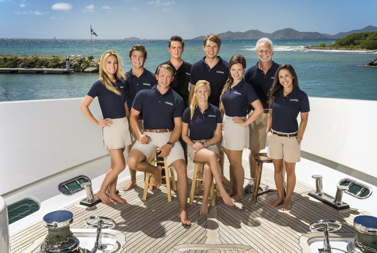 Below Deck Season 2 crew: Kate Chastain, Eddie Lucas, Kelley Johnson, Ben Robinson, Kathleen Held, Andrew Sturby, Amy Johnson, Captain Lee Rosbach, Jennice Ontiveros