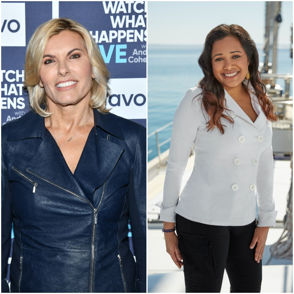 Captain Sandy Yawn from Below Deck Mediterranean and Natasha de Bourg from Below Deck Sailing Yacht