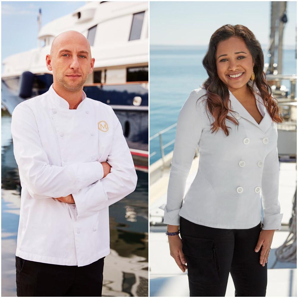 Below Deck Mediterranean's chef Mathew Shea and Below Deck Sailing Yacht's chef Natasha de Bourg cast photos