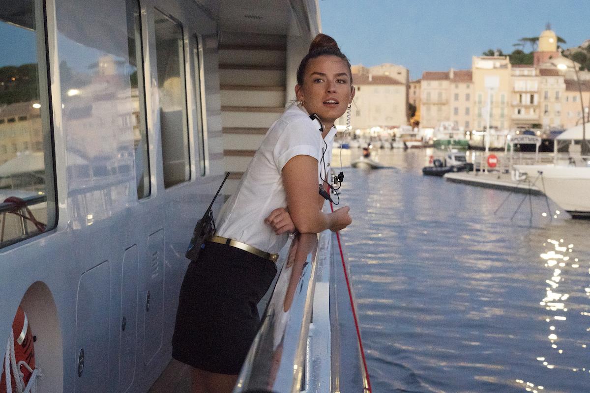 Below Deck Mediterranean's Aesha Scott on a yacht during season 4