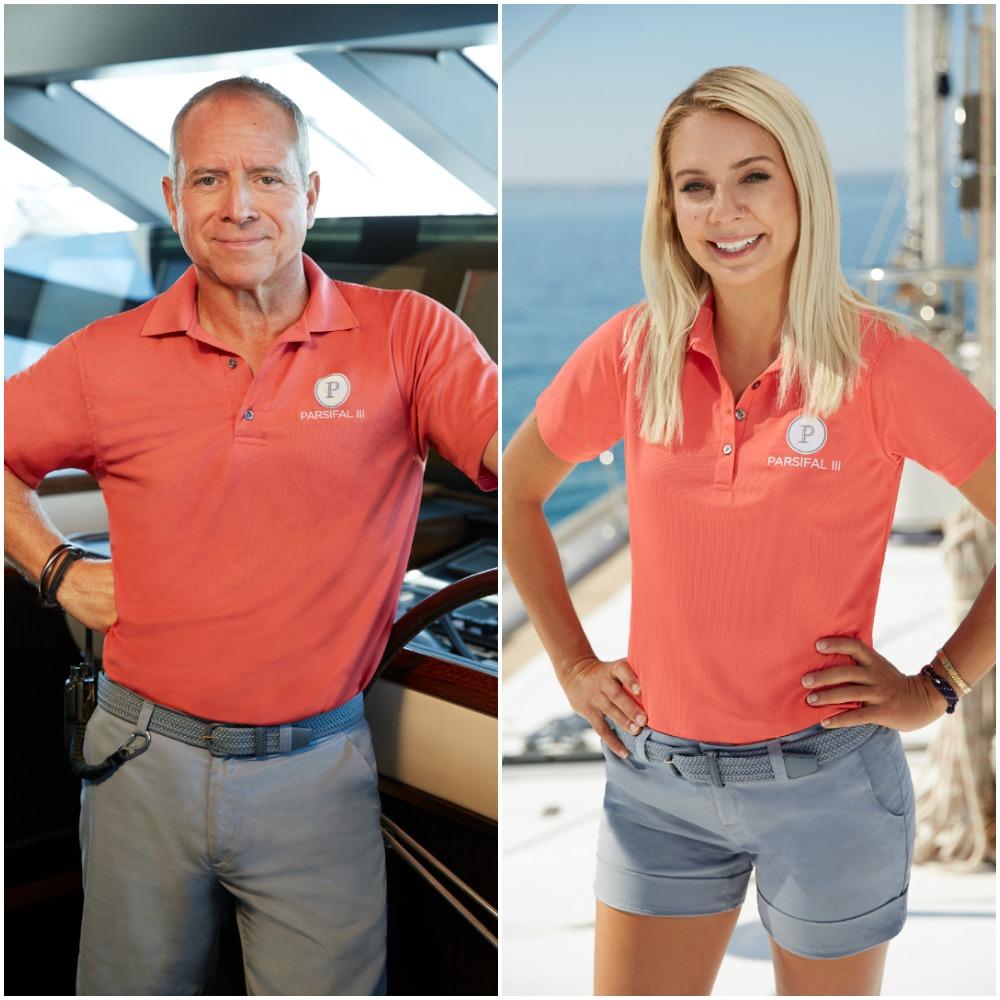 Captain Glenn Shephard and Sydney Zaruba from Below Deck Sailing Yacht