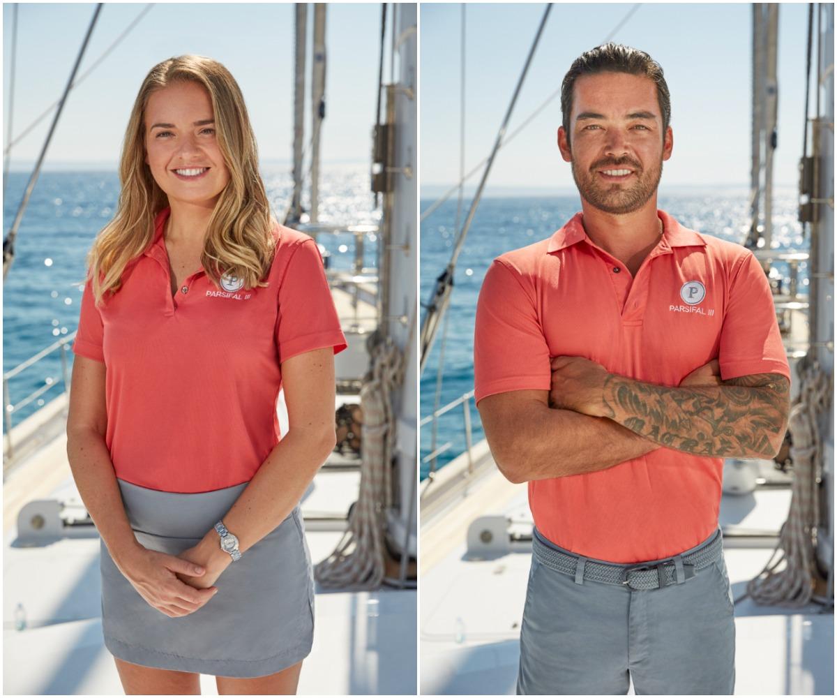 Below Deck Sailing Yacht Season 2 cast photos of Daisy Kelliher and Colin Macrae