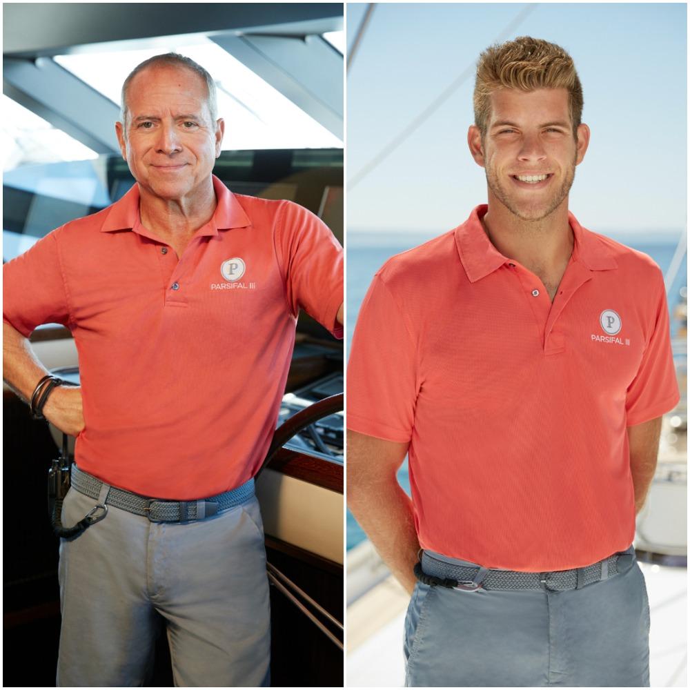 Below Deck Sailing Yacht Season 2 cast photos of Captain Glenn Shephard and Jean-Luc Cerza-Lanaux
