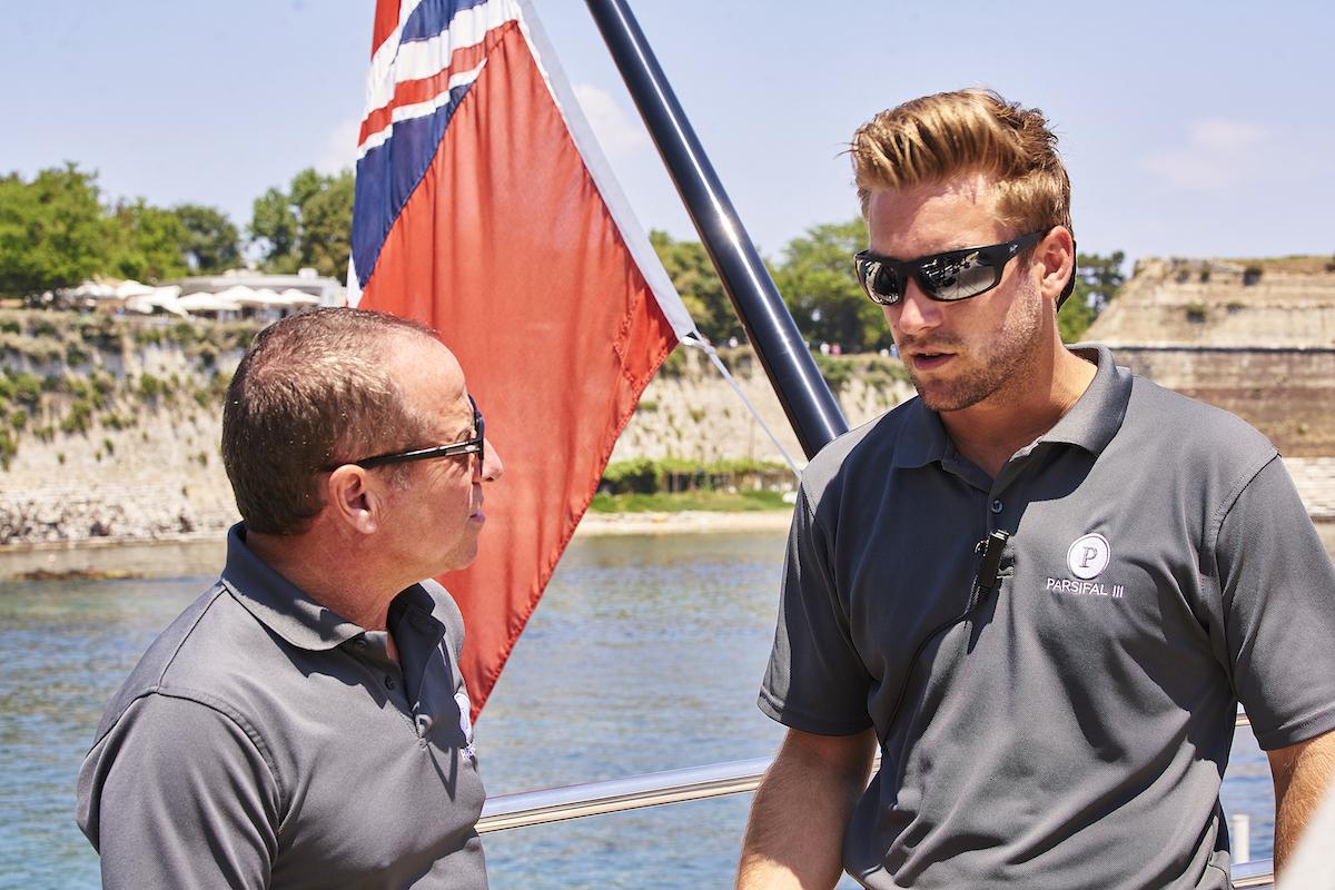 Below Deck Sailing Yacht Season 1: Captain Glenn Shephard talks to deckhand Parker McCown
