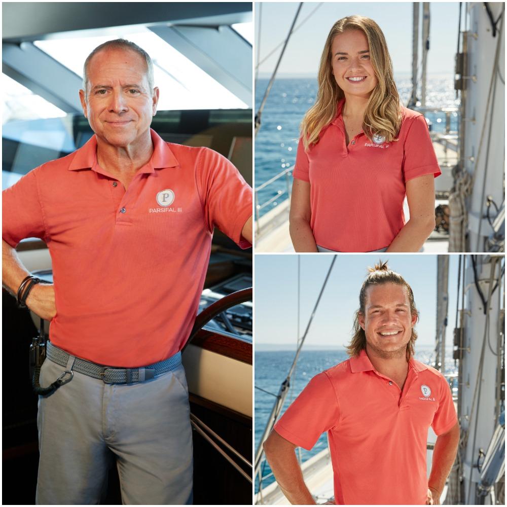 Below Deck Sailing Yacht Season 2 crew cast photos of Captain Glenn Shephard, Daisy Kelliher and Gary King