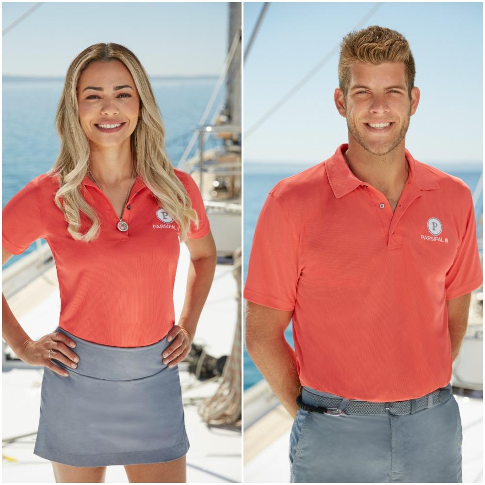 Below Deck Sailing Yacht cast photos of Dani Soares and Jean-Luc Cerza-Lanaux