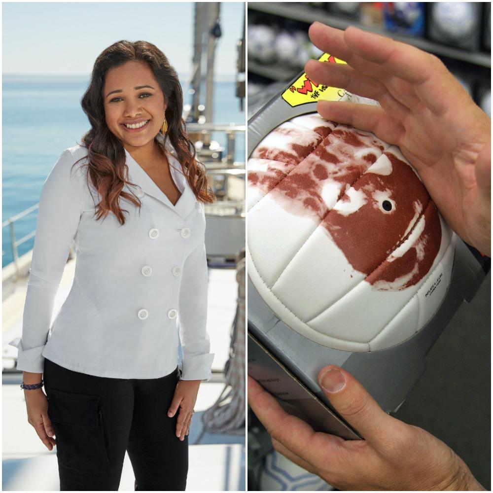Below Deck Sailing Yacht's Chef Natasha de Bourg and Castaway volleyball