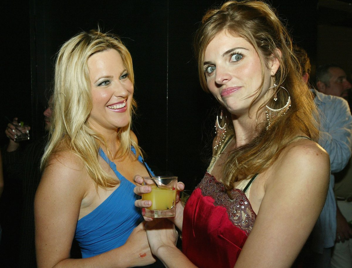 """The Real World's Beth Stolarczyk (L) and Trishelle Cannatella pose at a party to celebrate the release of """"Reality Unleashed"""""""