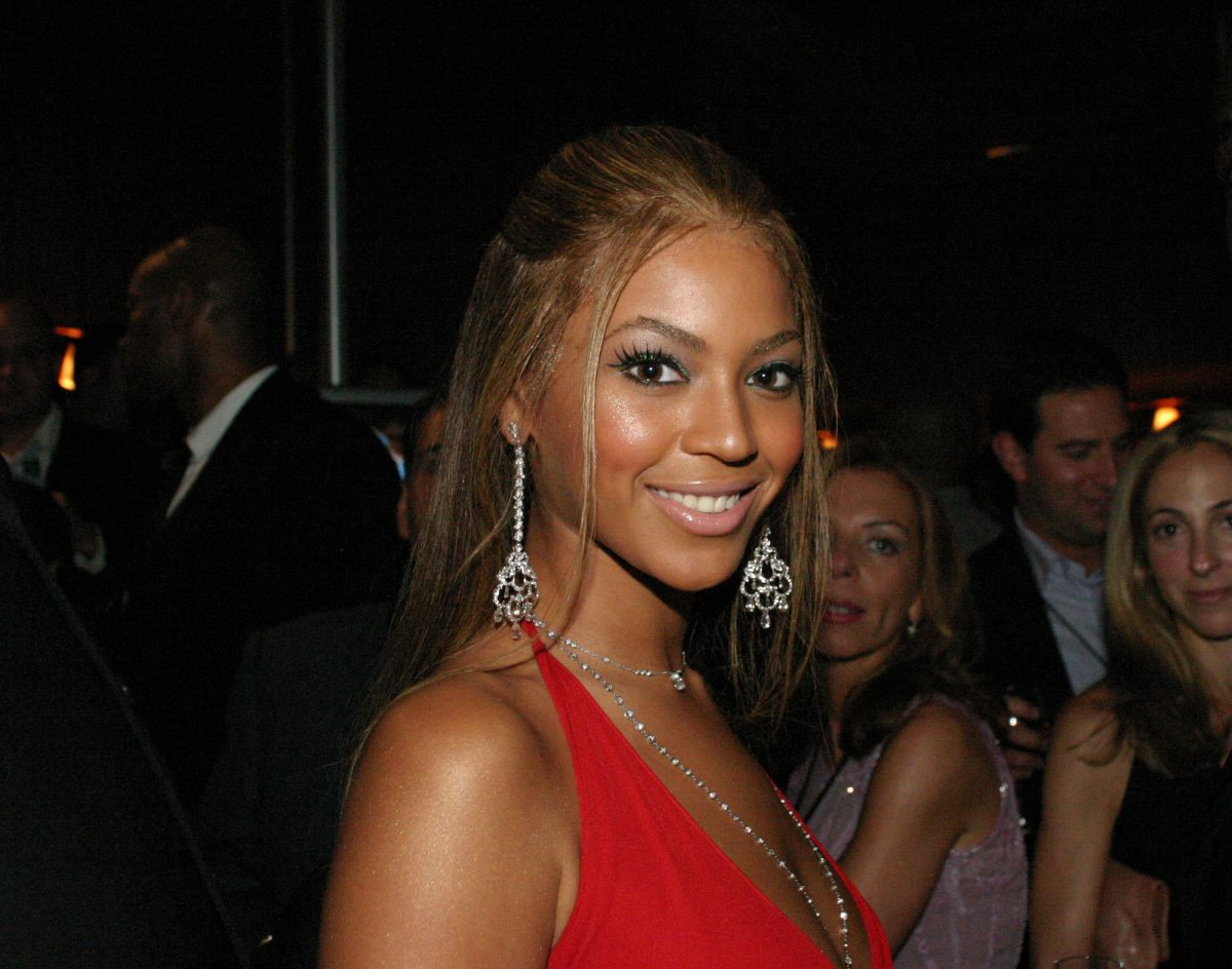 Beyoncé during the launch of Jay Z's 40/40 Club in New York City
