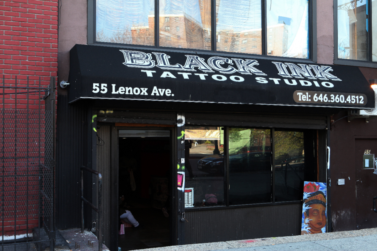Black Ink tattoo studio, home of VH1's television show 'Black Ink Crew' in Harlem, New York
