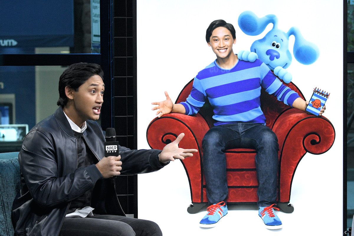 Joshua Dela Cruz visits the Build Series to discuss Nickelodeon's Blues Clues & You in 2019