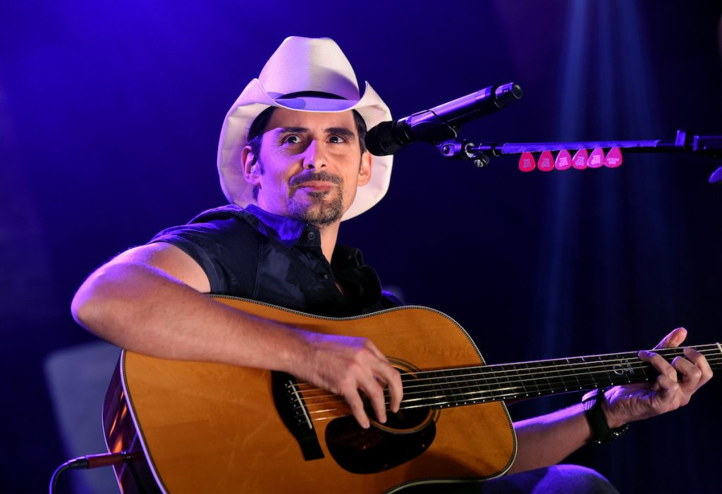 Brad Paisley performs onstage during iHeartCountry Live presented by Citi MasterPass at iHeartRadio Theater on November 11, 2016 in Burbank, California.