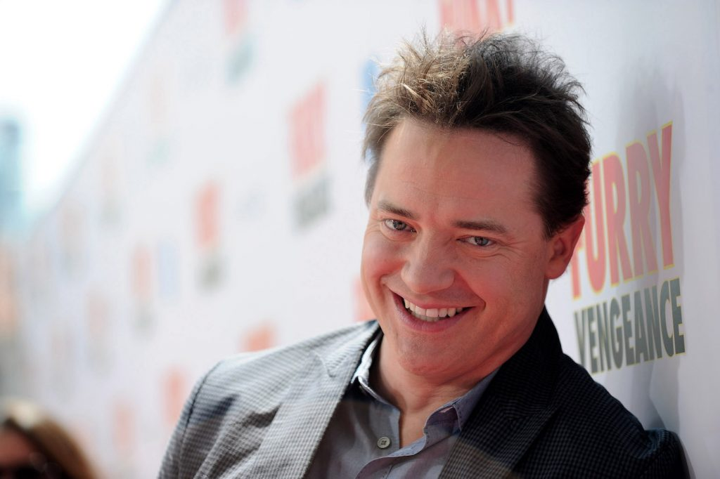 Actor Brendan Fraser arrives at the premiere of 'Furry Vengeance' at the Bruin Theatre on April 18, 2010, in Westwood, California