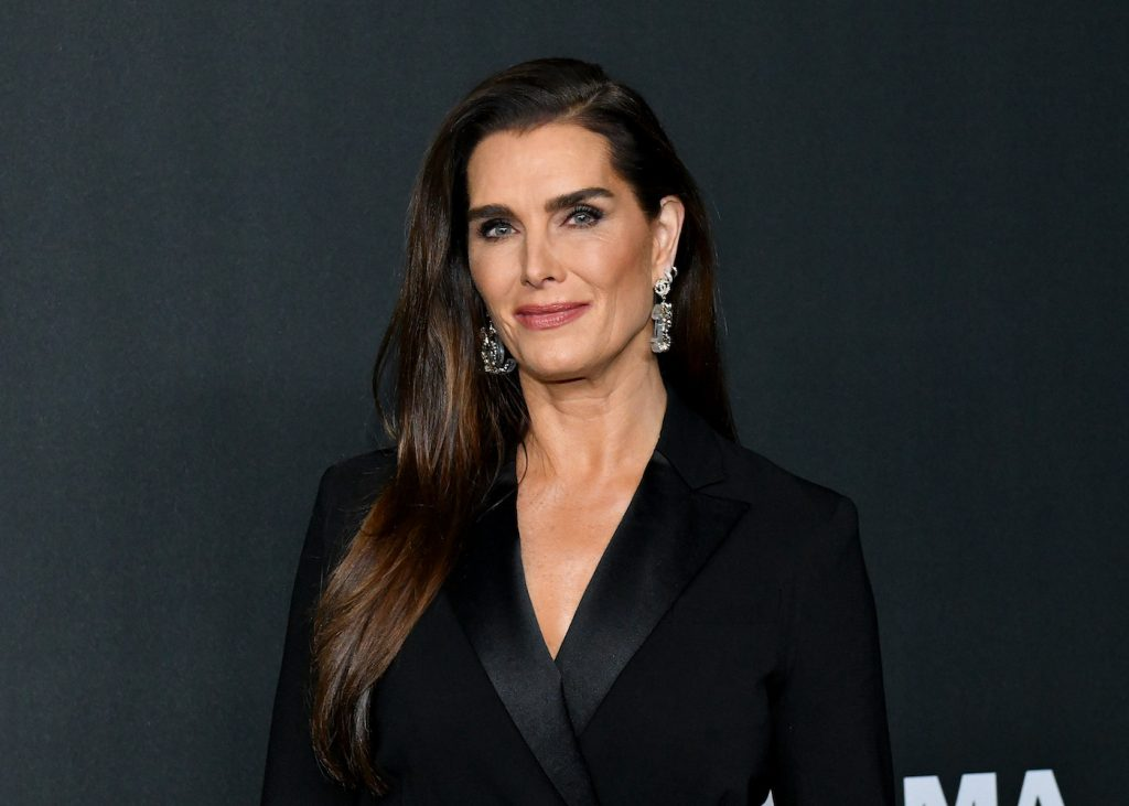 Brooke Shields attends MoMA's 12th-annual Film Benefit Presented by Chanel Honoring Laura Dern in November 2019, in New York City