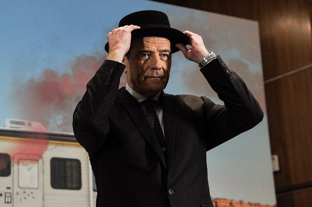 Bryan Cranston speaks with his black 'Heisenberg Hat' from 'Breaking Bad'.