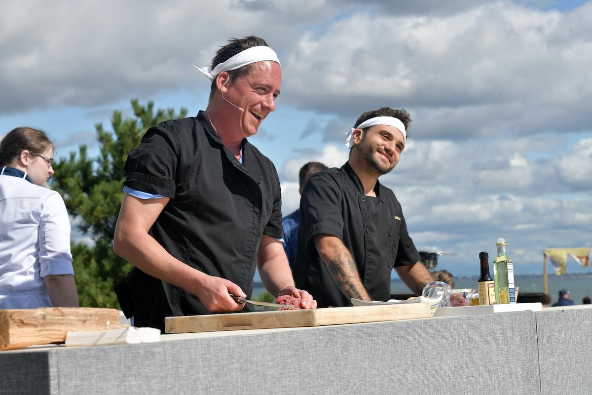 Chef Ben Robinson from Below Deck Mediterranean during a 2019 cooking demonstration in Newport, Rhode Island