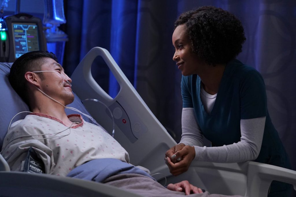 'Chicago Med' cast members Brian Tee as Ethan Choi and Yaya DaCosta as April Sexton