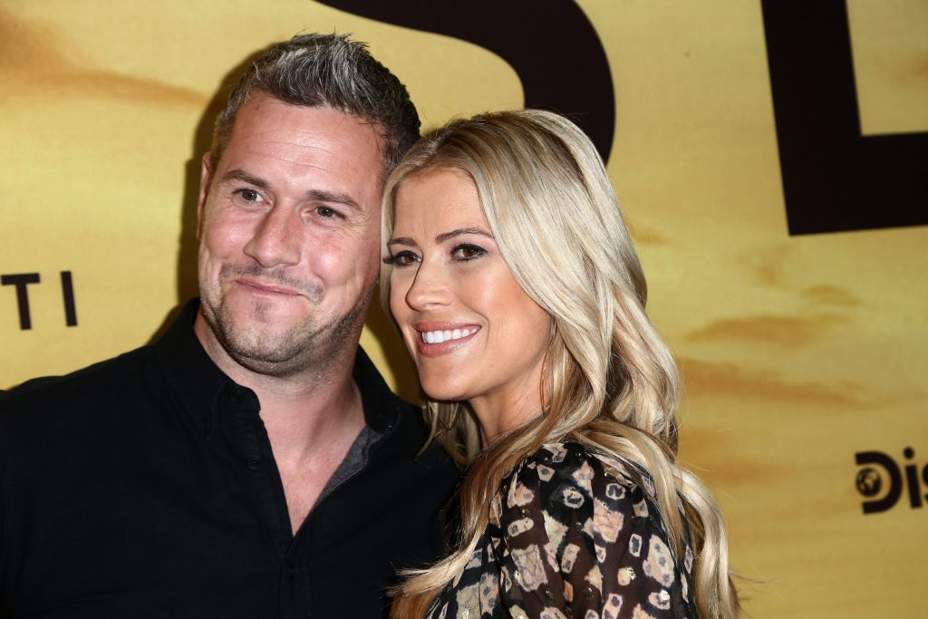 Ant Anstead smiling with ex-wife Christina Haack at a movie premiere before he started dating Renée Zellweger