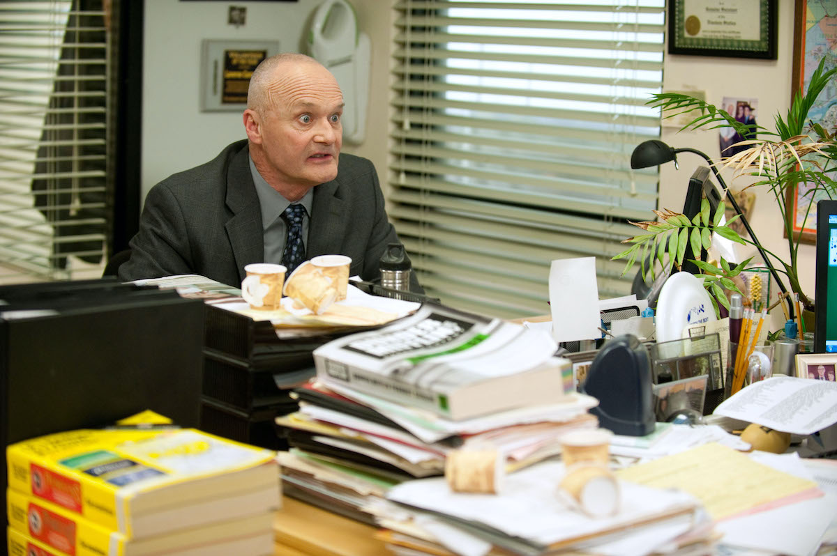 Creed Bratton on the set of the NBC comedy 'The Office'