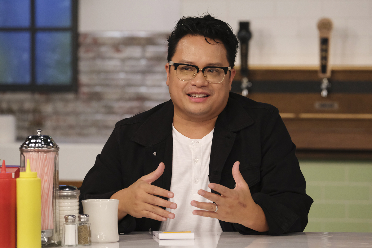 Dale Talde judging on season 18 of 'Top Chef' in an episode that that was filmed in September 2020