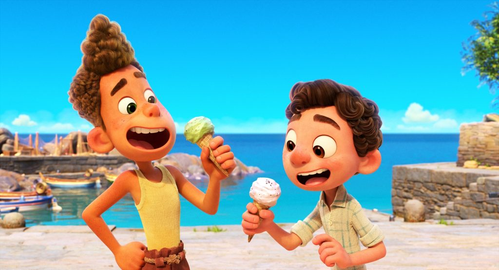 A clip from Disney and Pixar's animated film, 'Luca'