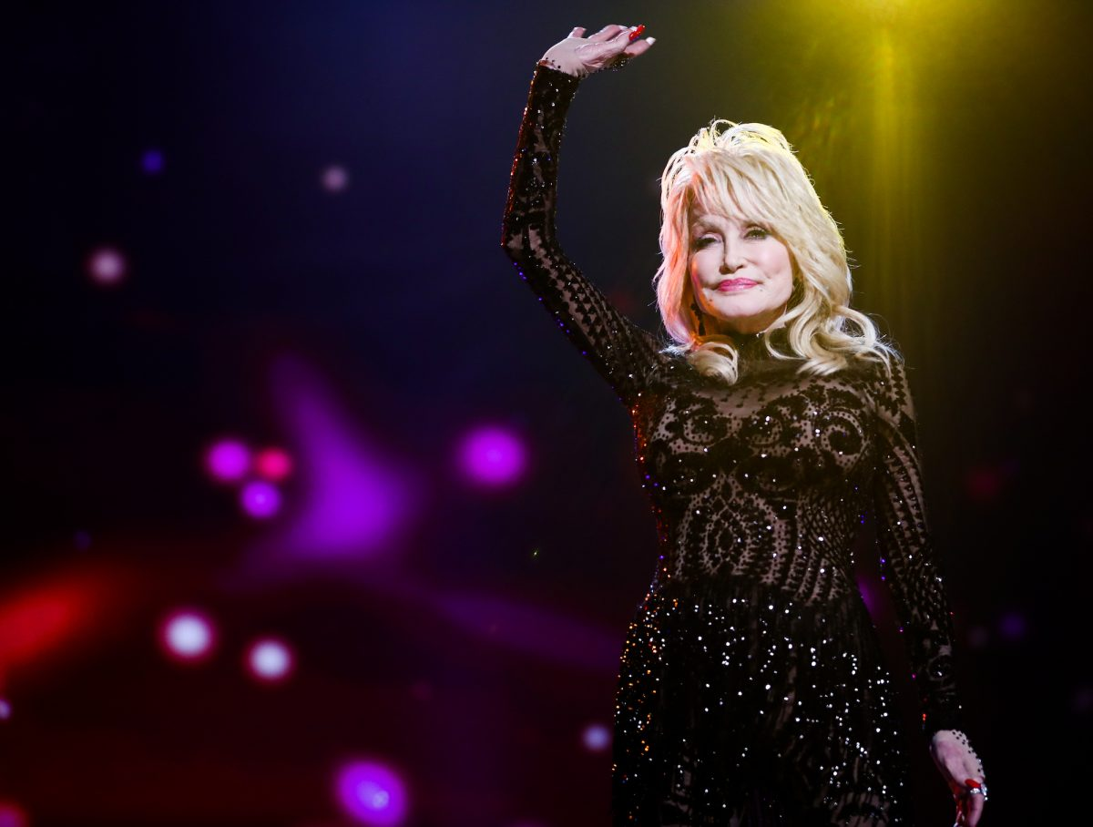 Dolly Parton onstage at the MusiCares Person Of The Year event in 2019