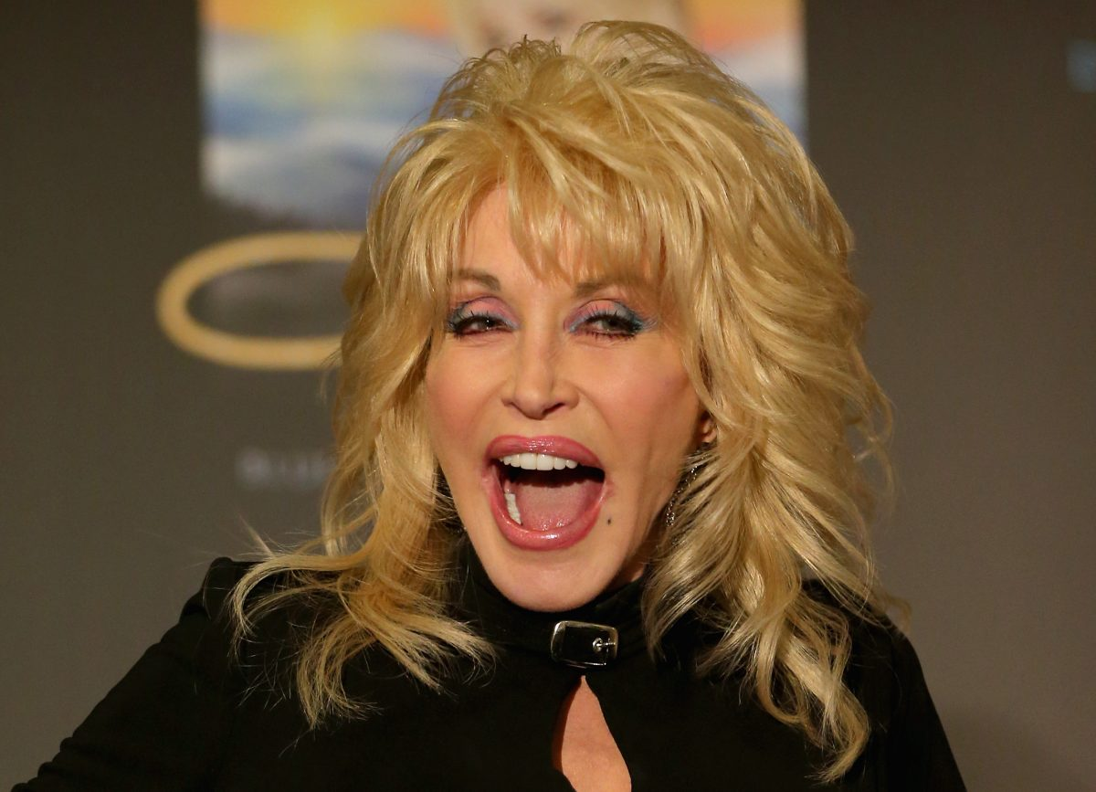 Dolly Parton speaks to the media during a press conference at Rod Laver Arena on February 11, 2014 in Melbourne, Australia.