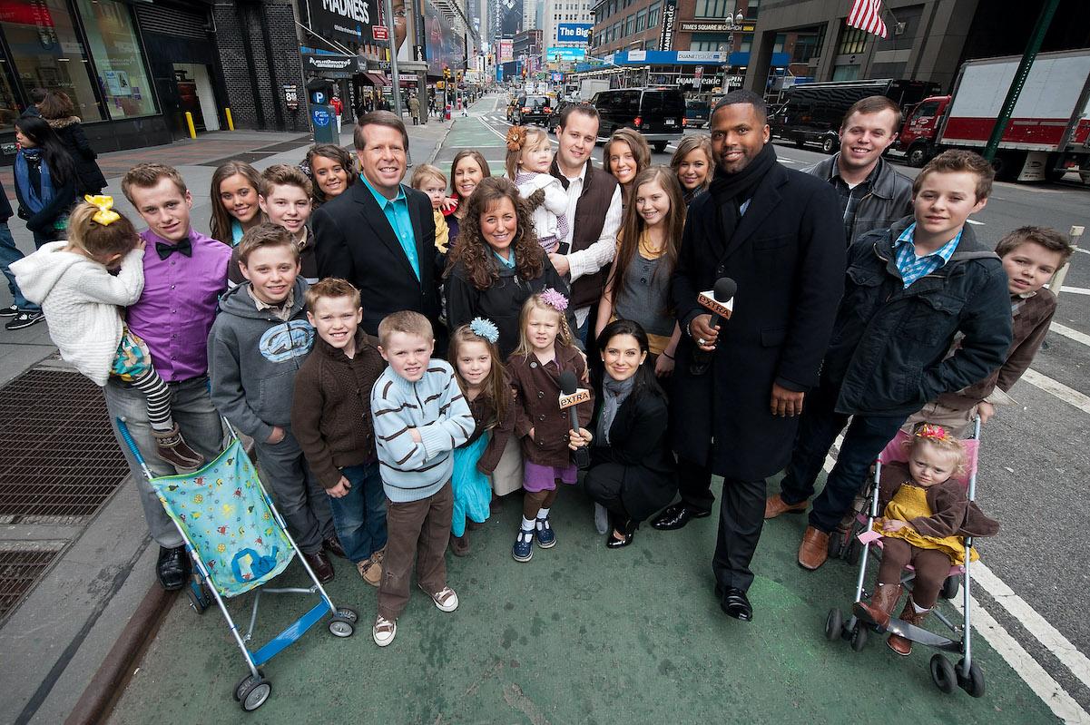 The Duggar family in New York City in 2013
