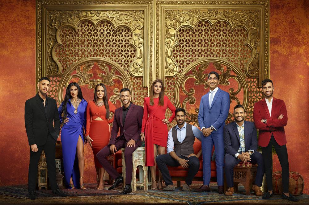 Family Karma Season 2 cast photo: Rishi Karamchandani, Bali Chainani, Monica Vaswani, Brian Benni, Anisha Ram, Amrit Kapai, Vishal Parvani, Shaan Patel, Dillon Patel