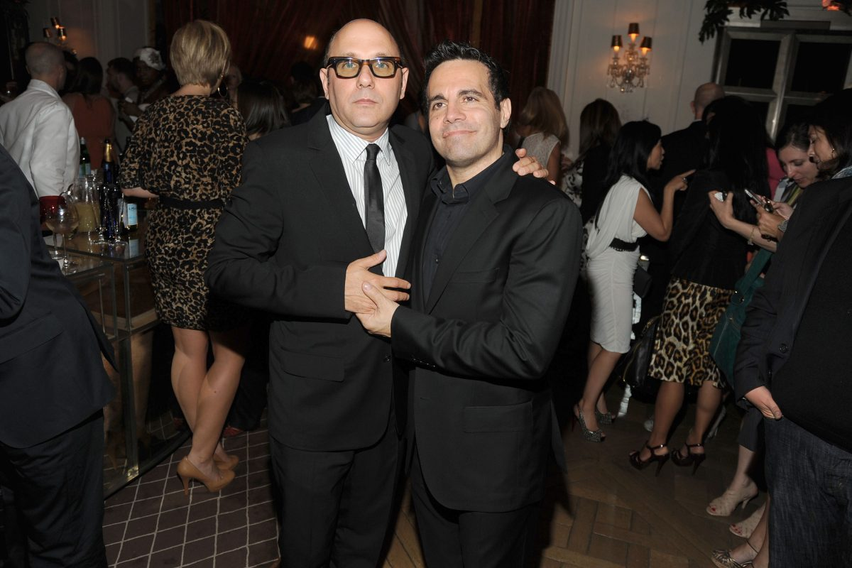 Willie Garson and Mario Cantone pose together at the 'Sex and the City 2' After Party at Bergdorf Goodman in 2010