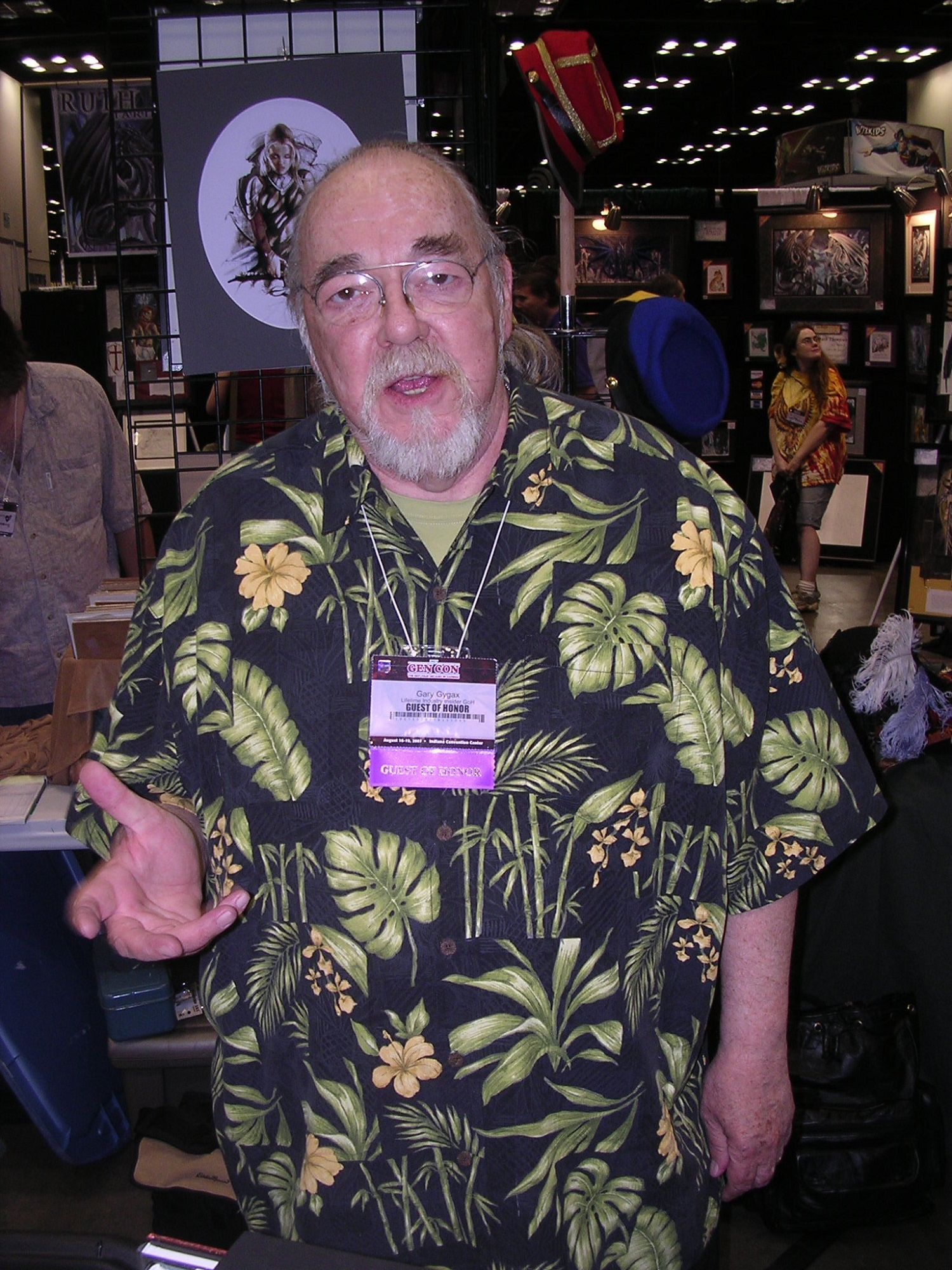 Gary Gygax, creator of DND and TSR at Gen Con Indy 2007