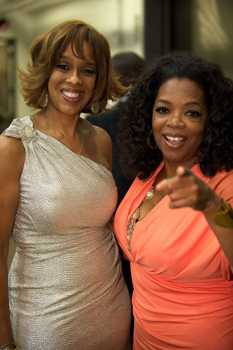 Gayle King and Oprah Winfrey attending a Tyler Perry And Soledad O'Brien hosted Gala celebrating Bishop T.D. Jakes' 35 Years Of Ministry