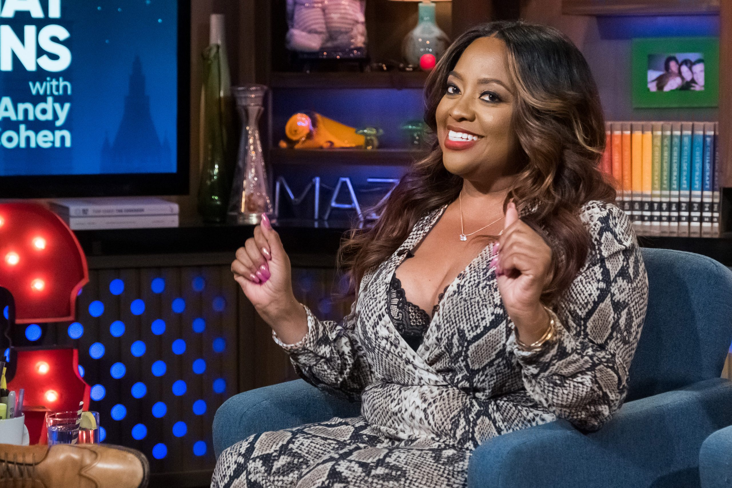 Actor Sherri Shepherd on the set of 'Watch What Happens Live with Andy Cohen'