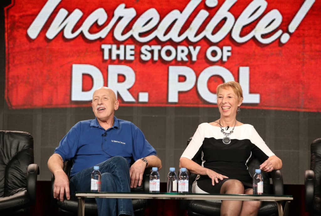 'The Incredible Dr. Pol's Dr. Jan Pol and his wife Diane Pol
