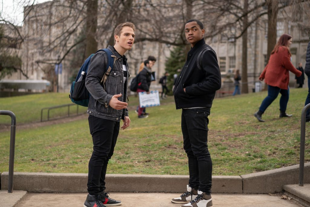 Gianna Paolo as Brayden and Michael Rainey Jr. as Tariq in 'Power Book II: Ghost'