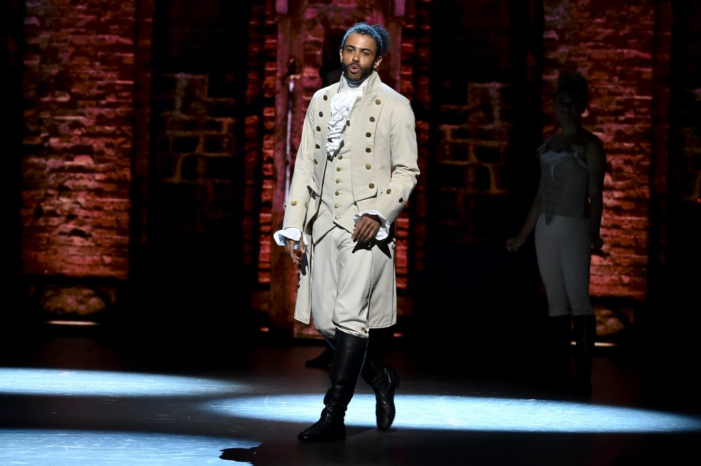 Daveed Diggs of 'Hamilton' performs on stage during the 70th Annual Tony Awards