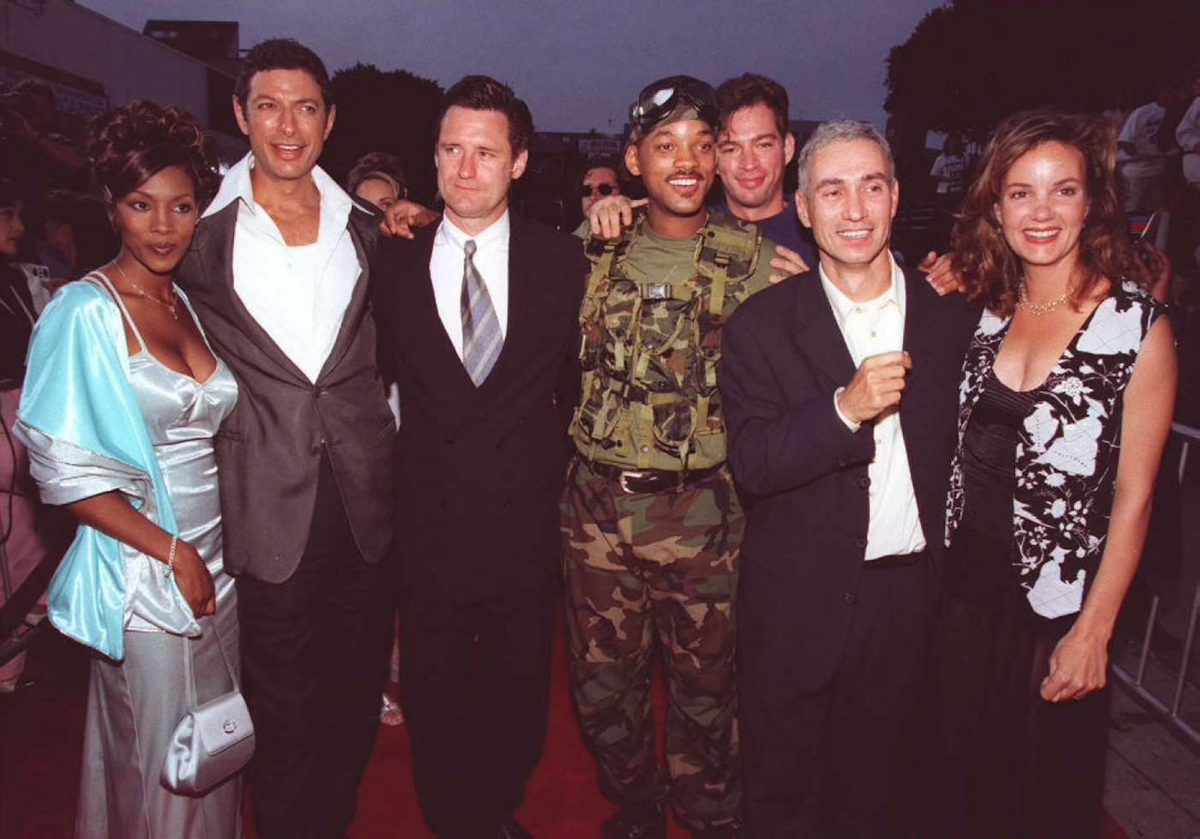 'Independence Day' cast during the film's premiere