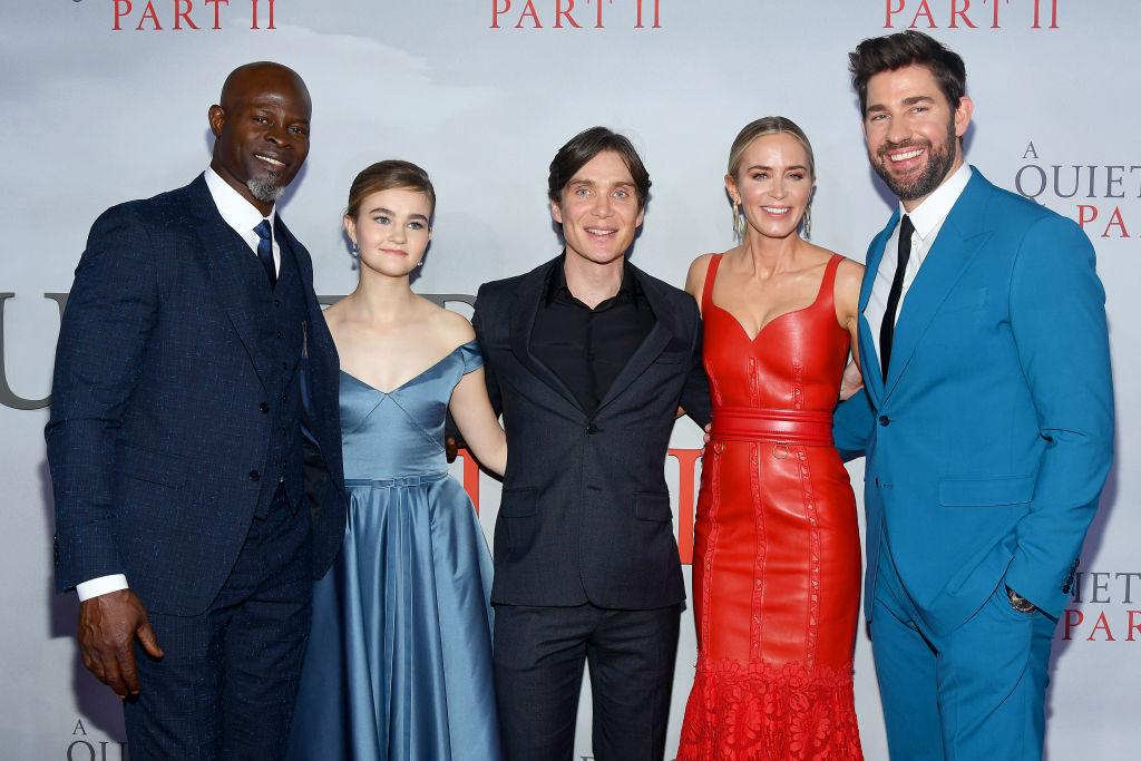 Djimon Hounsou, Millicent Simmonds, Cillian Murphy, Emily Blunt and John Krasinski walk the red carpet for 'A Quiet Place Part II'