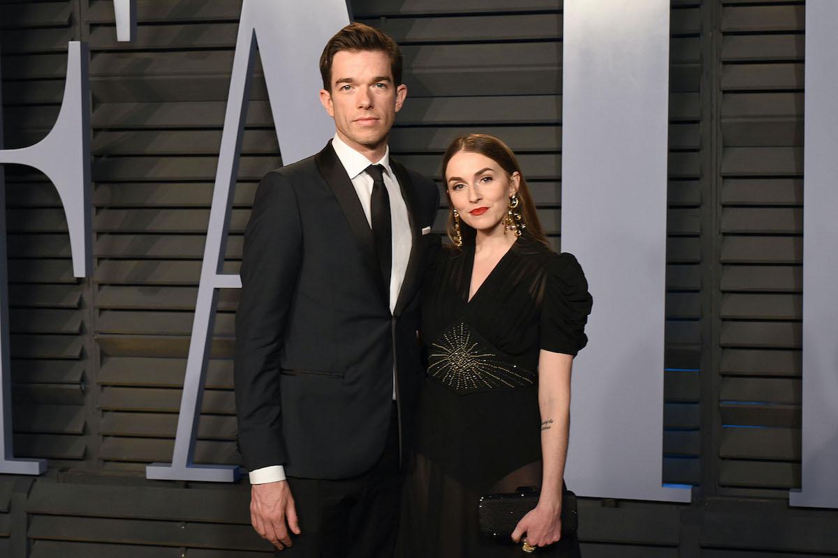 John Mulaney and Anna Marie Tendler attend the 2018 Vanity Fair Oscar Party