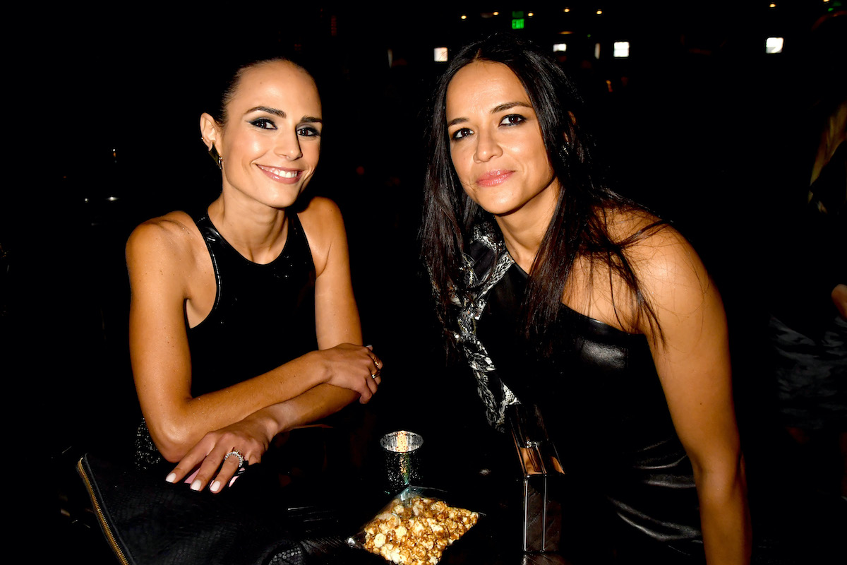 'Fast and Furious' stars Jordana Brewster and Michelle Rodriguez both wear black at the 2017 MTV Movie And TV Awards