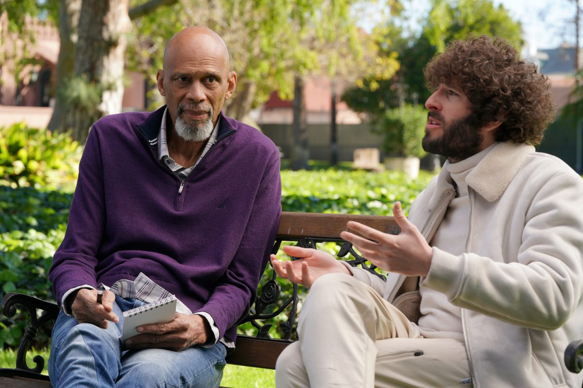 Kareem Abdul-Jabbar and Dave Burd in a season 2 episode of 'Dave' on FX