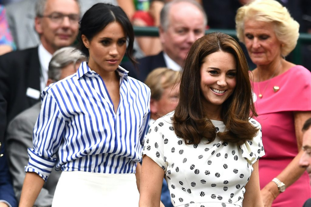 Meghan Markle and Kate Middleton at Wimbledon in 2018