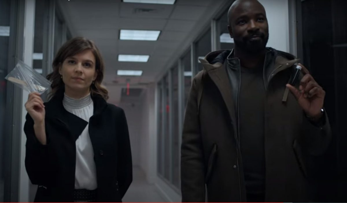 Katja Herbers and Mike Colter in 'Evil' season 2