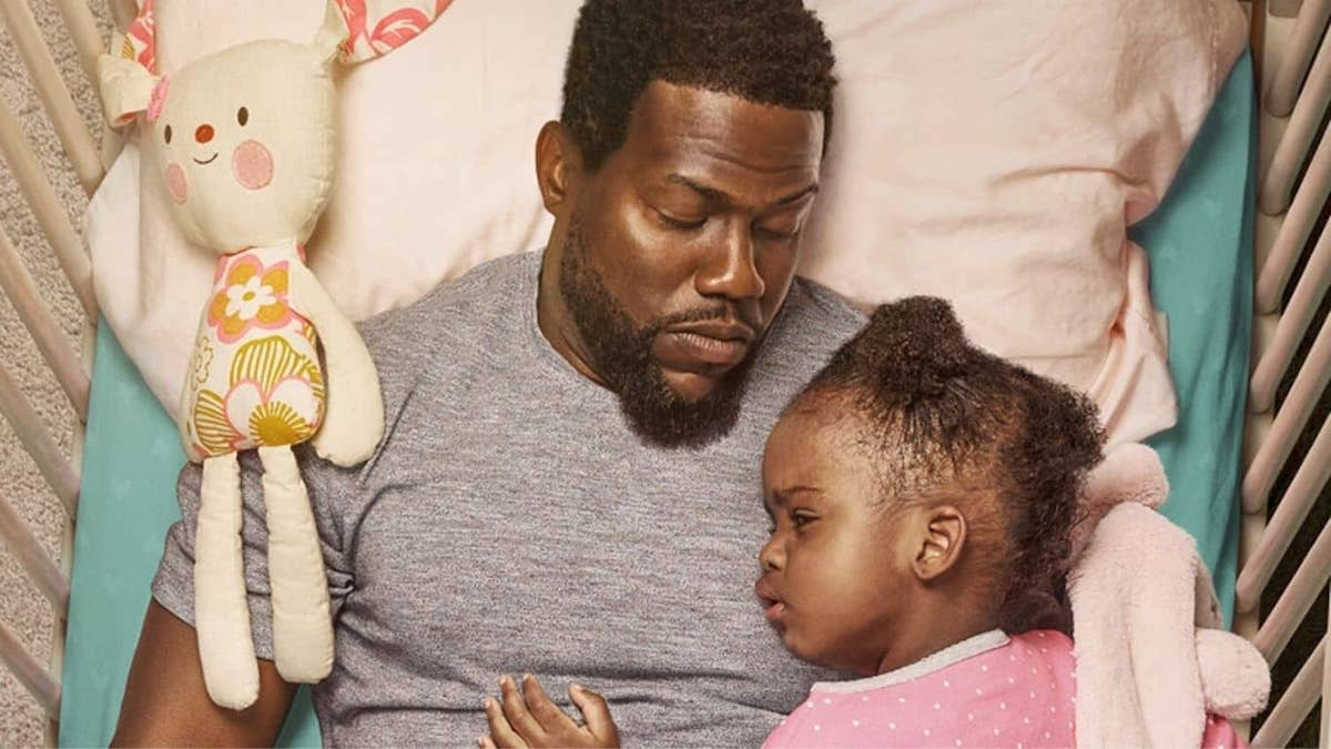 Kevin Hart and Melody Hurd in the poster for 'Fatherhood'