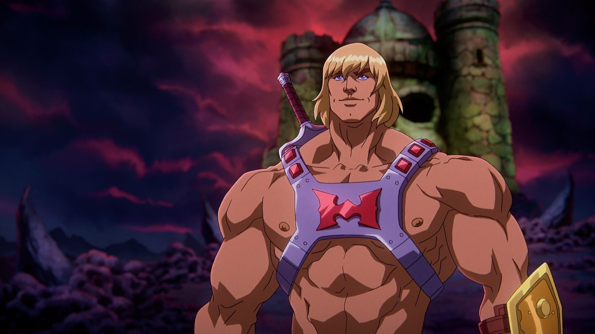 Kevin Smith's He-Man stands before Castle Greyskull