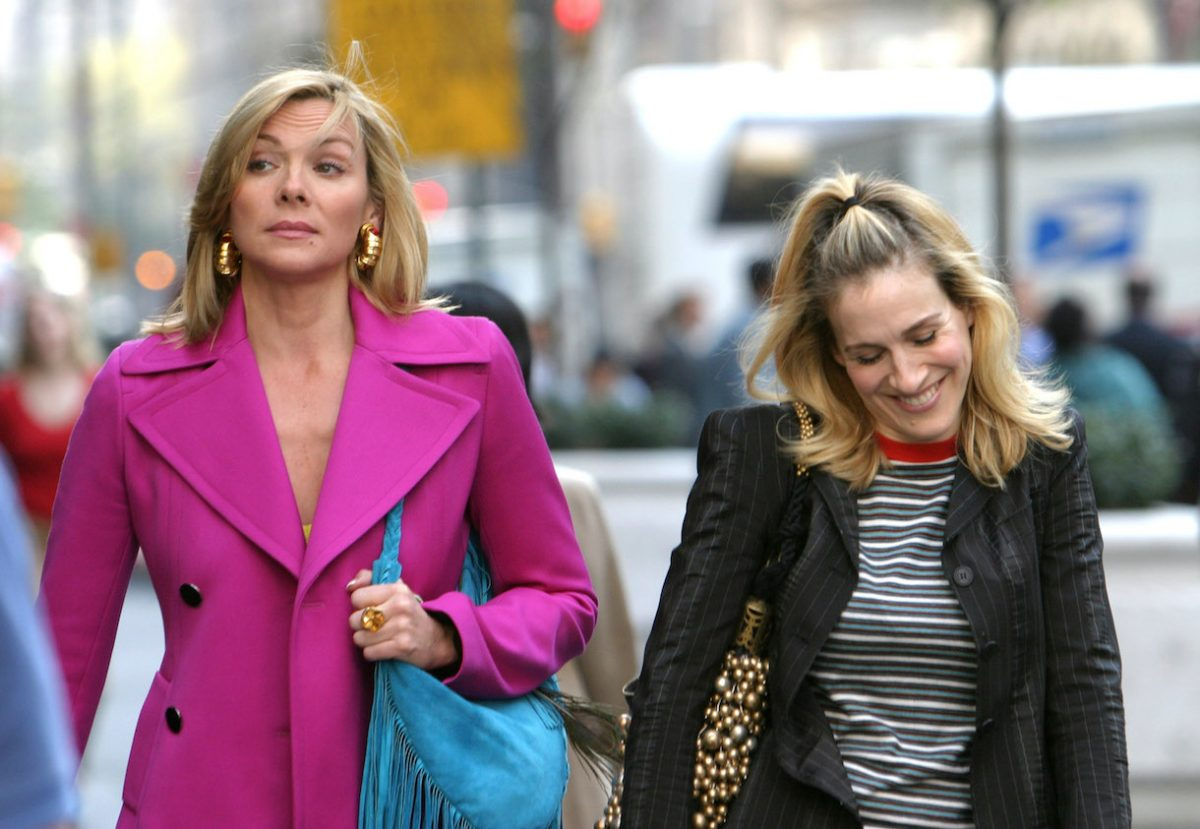 Kim Cattrall and Sarah Jessica Parker On Location For 'Sex And The City'