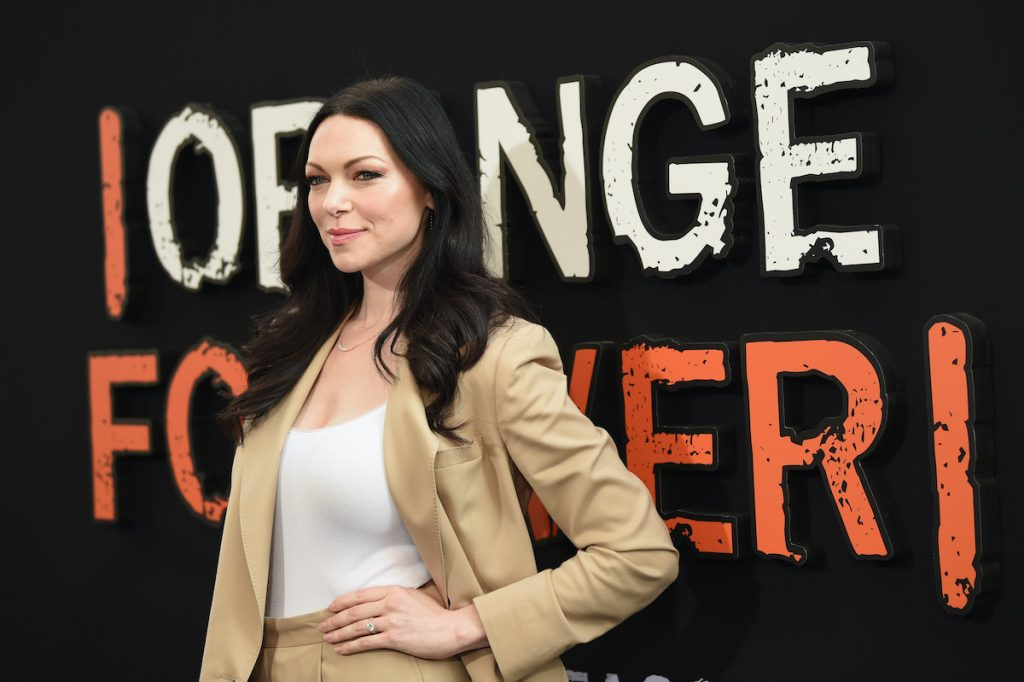 Laura Prepon posing on the red carpet at an event for 'Orange Is the New Black,' on which she played Alex Vause