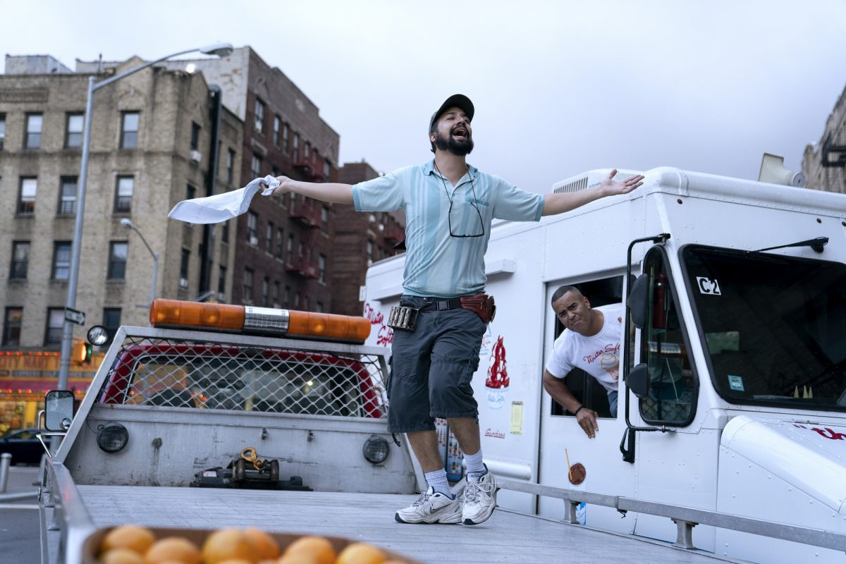 Lin-Manuel Miranda sings on a tow truck in In the Heights