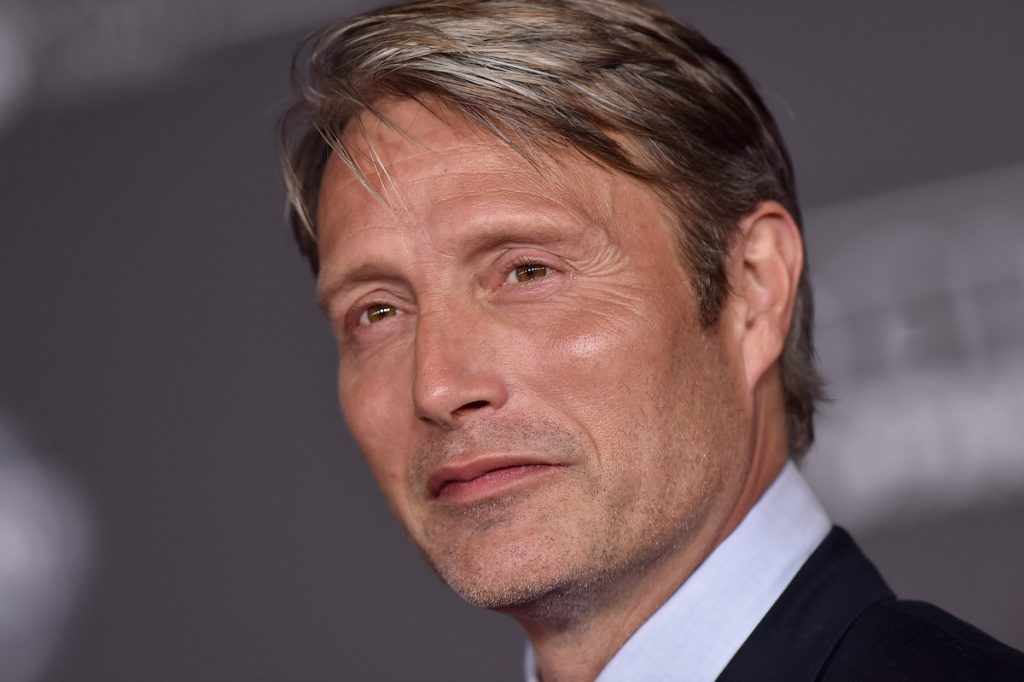 Mads Mikkelsen attends the premiere of 'Rogue One: A Star Wars Story' at the Pantages Theatre on December 10, 2016 in Hollywood, California.